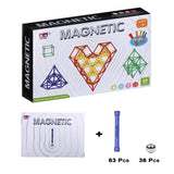 Magnetic Building Sticks Developmental Play for 6 years