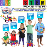 STEM Master Learning Construction Building Set | Engineering + Play + Math | Ages: 3+ yrs.