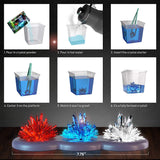 Wonder Power Light-up Crystal Growing Kit for Kids | Science + Art | Ages: 8+ yrs.