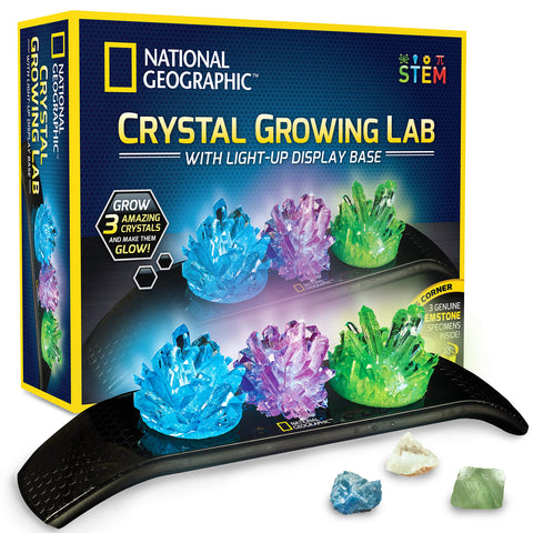 Science Guru Crystal Growing Kit | Science + Art+ Math | Ages: 8 +