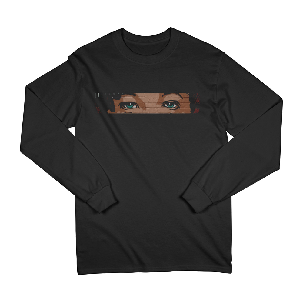 Mural Eyes Smiley Long Sleeve Tee