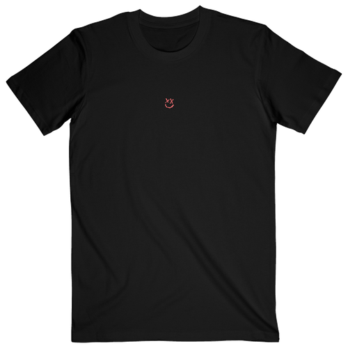 Black Reflection Smiley Tee