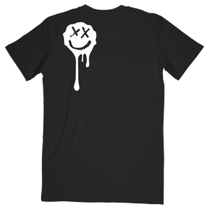 Black Drip Smiley Tee
