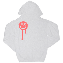 Load image into Gallery viewer, Grey Drip Smiley Hoodie