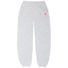 Load image into Gallery viewer, Grey Drip Smiley Sweatpants