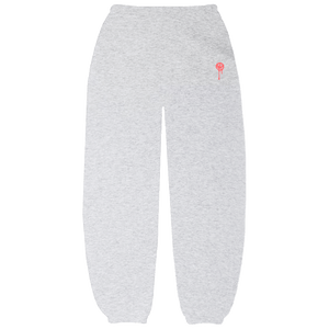 Grey Drip Smiley Sweatpants