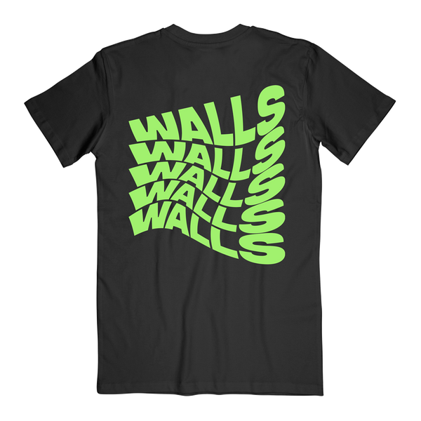 Smiley Walls Neon Green Logo Tee