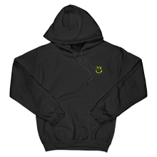 Load image into Gallery viewer, Neon Yellow Reverse Smiley Hoodie