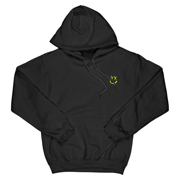 Neon Yellow Reverse Smiley Hoodie