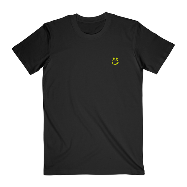 Smiley Walls Neon Yellow Logo Tee