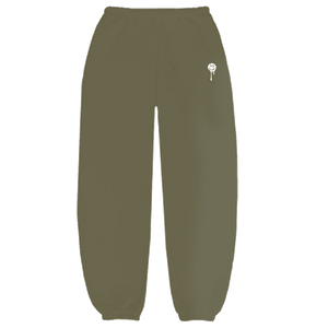 Olive Drip Smiley Sweatpants