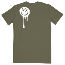 Load image into Gallery viewer, Olive Drip Smiley Tee