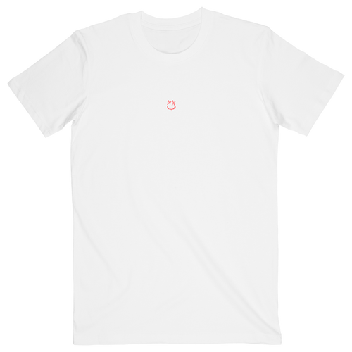 White Reflection Smiley Tee