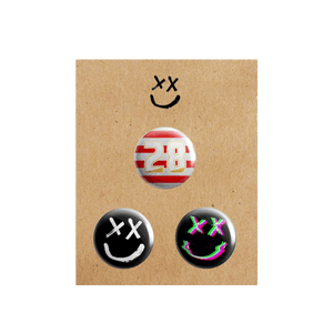 Smiley Pin Badge Set