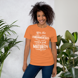 After the fundementals comes maturity
