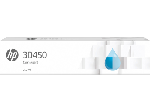 HP 3D450 250ML Cyan Agent for HP Jet Fusion 300/500 Series 3D Printers