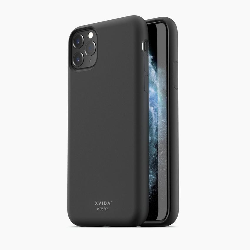 iPhone 11 Pro Max phone case soft silicone magnetic slim compatible with wireless charging iPhone 11 Pro Max case with magnetic back BLACK