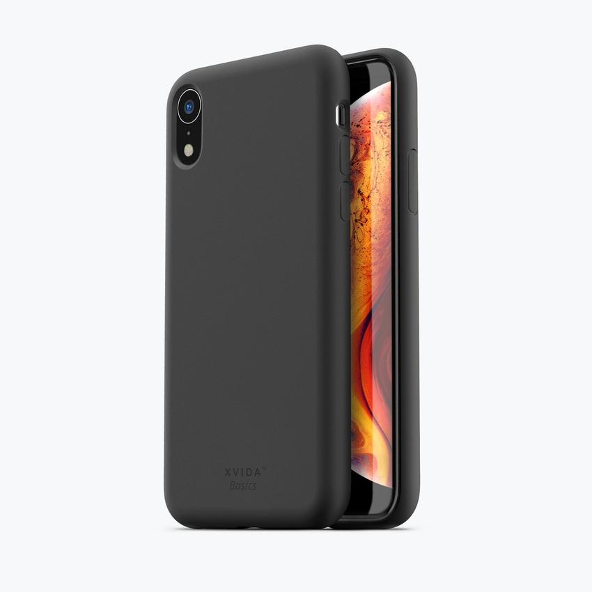 iPhone XR phone case soft silicone magnetic slim compatible with wireless charging iPhone XR case with magnetic back BLACK