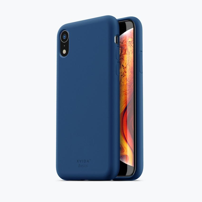 iPhone XR phone case soft silicone magnetic slim compatible with wireless charging iPhone XR case with magnetic back BLUE