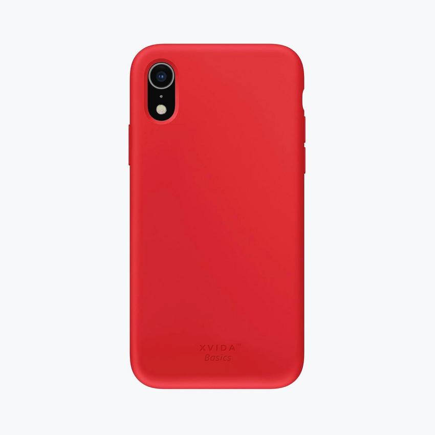 Liquid Silicone Full Protective Phone Case for iPhone XR Red