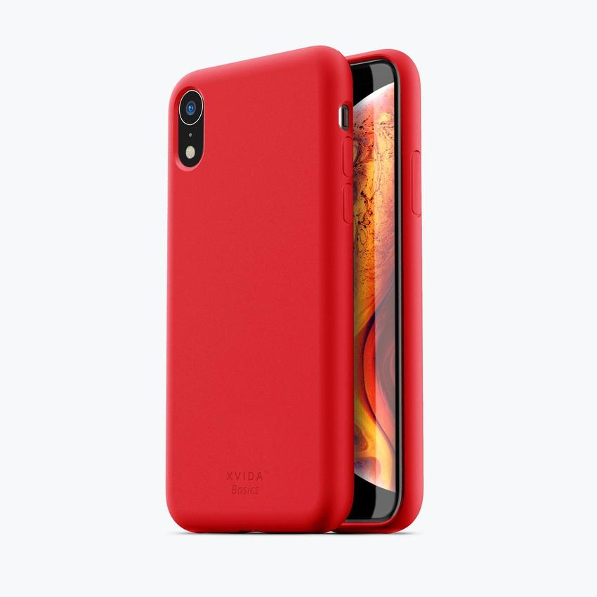 iPhone XR phone case soft silicone magnetic slim compatible with wireless charging iPhone XR case with magnetic back RED
