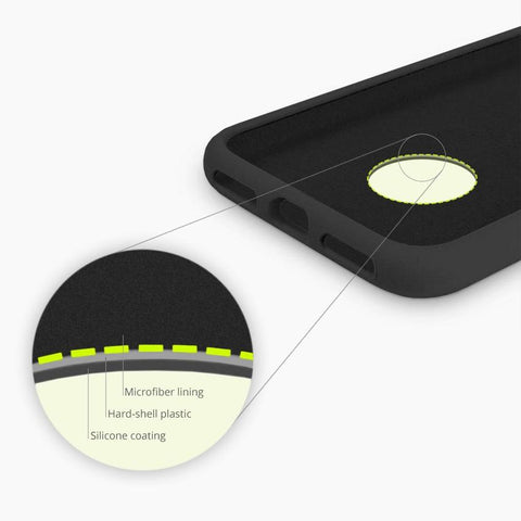 Magnetic Silicone Wireless Charging Case for iPhone XR