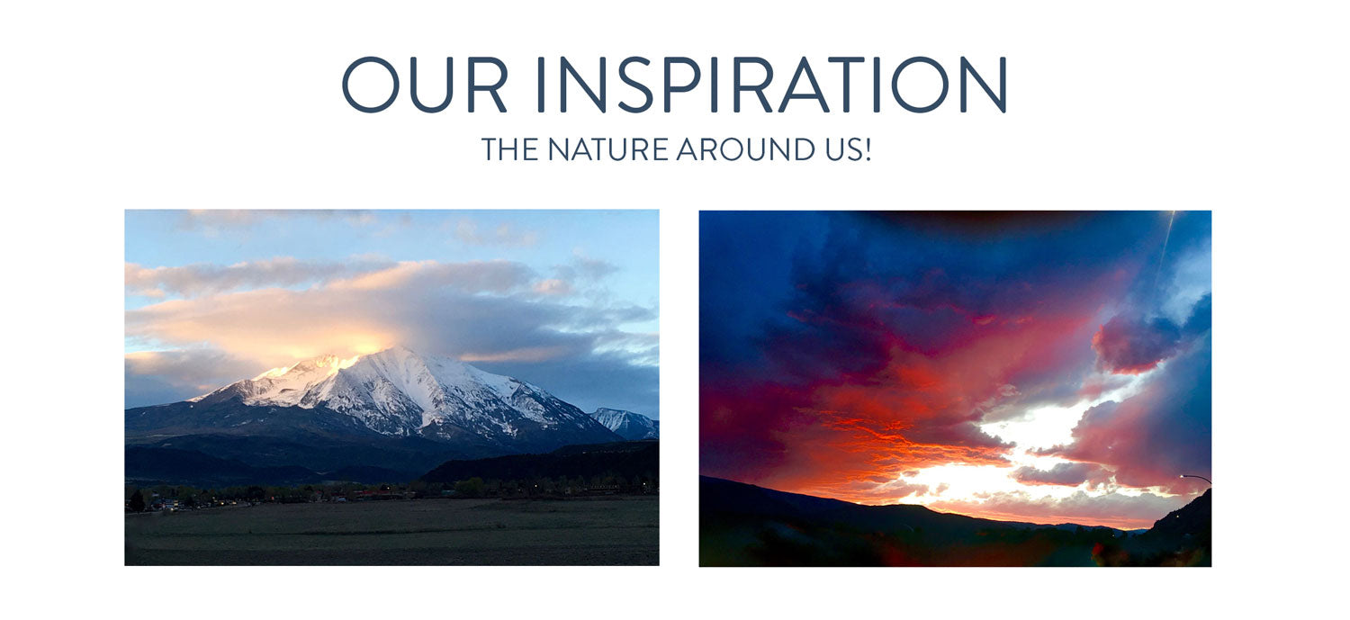 Our Inspiration, beautiful mountains and the gorgeous colors of the sunset