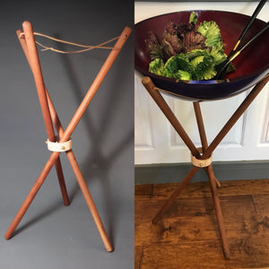 Solid Beech Bowl Stand
