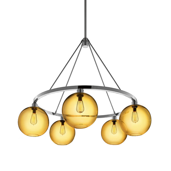 Amber Solitaire Chandelier