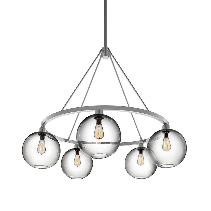 Brushed Aluminum Solitaire Chandelier (120V)