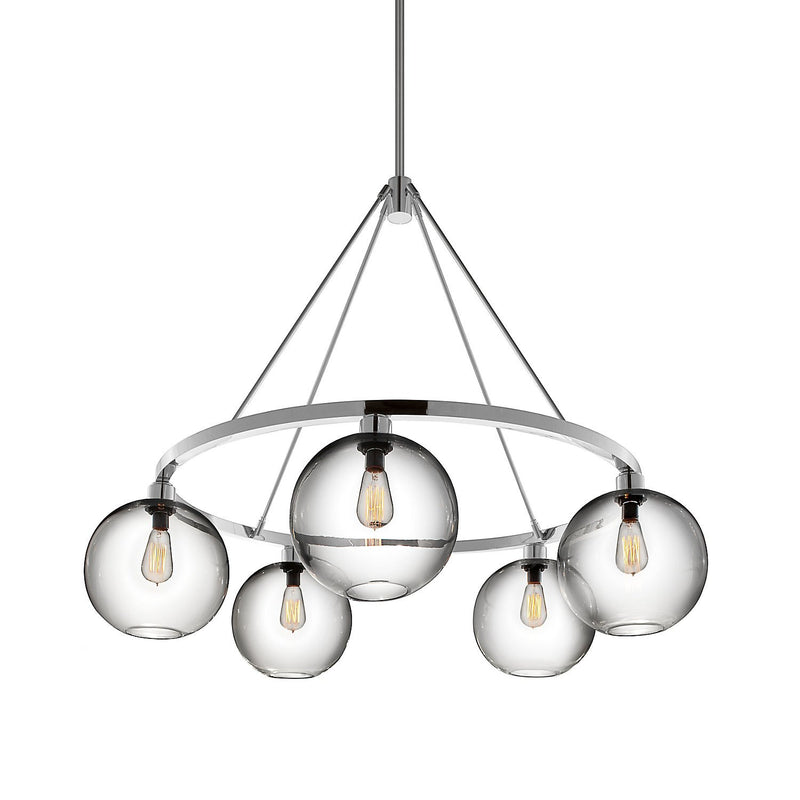 Polished Aluminum Solitaire Chandelier (240V)