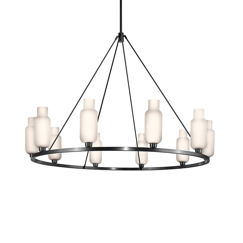 Sola 60 Custom Chandelier with Opaline Pharos Glass (Up)