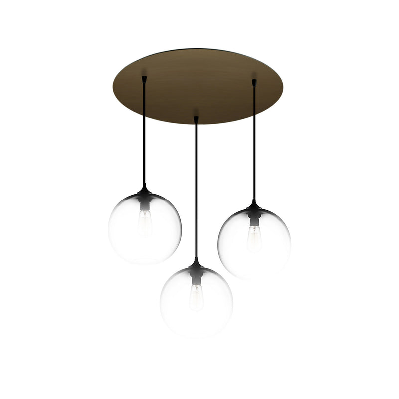 Antiqued Brass Circular-3 Canopy