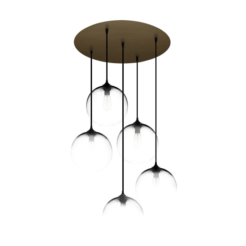 Antiqued Brass Circular-5 Canopy
