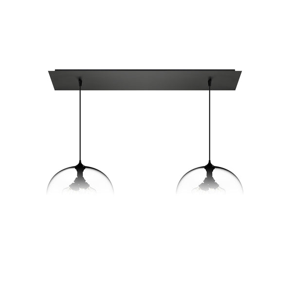 Matte Black Linear-2 Large Canopy