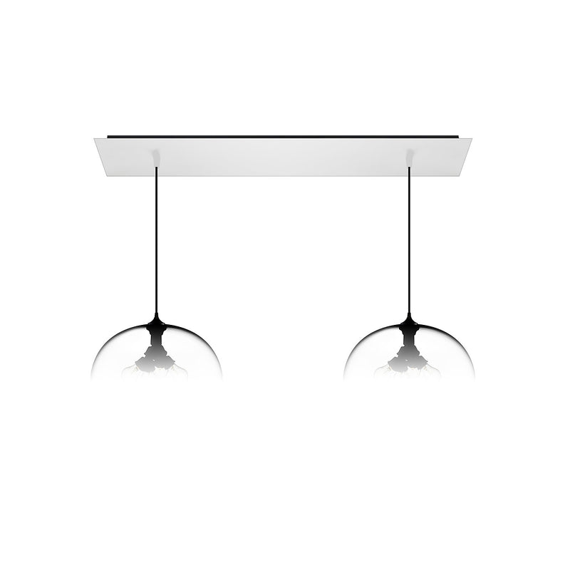 Matte White Linear-2 Large Canopy