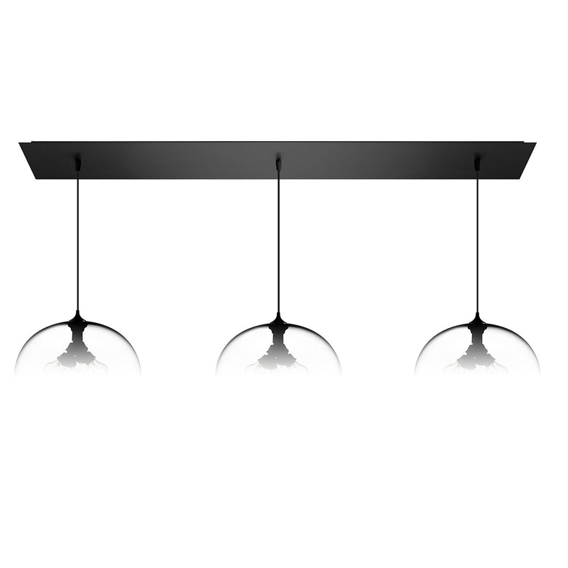 Matte Black Linear-3 Large Canopy