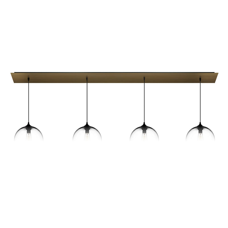 Antiqued Brass Linear-4 Canopy