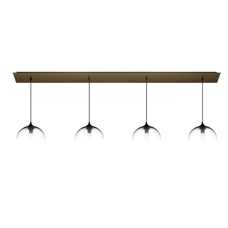 Antiqued Brass Linear-4 Large Canopy