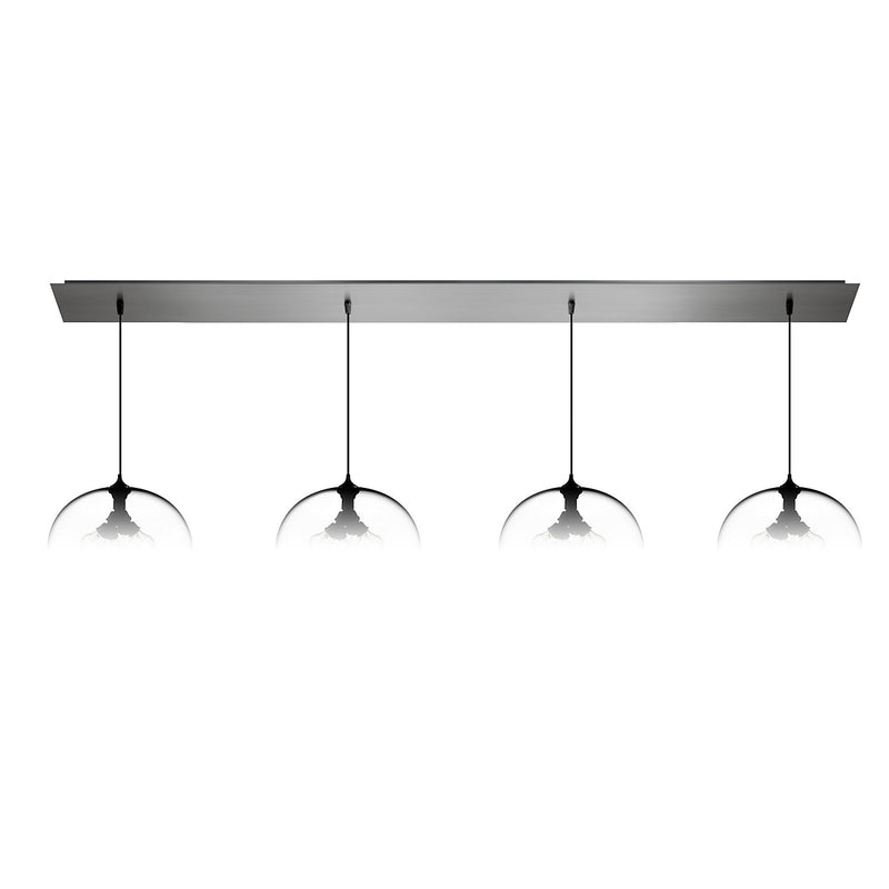 Brushed Stainless Linear-4 Large Canopy