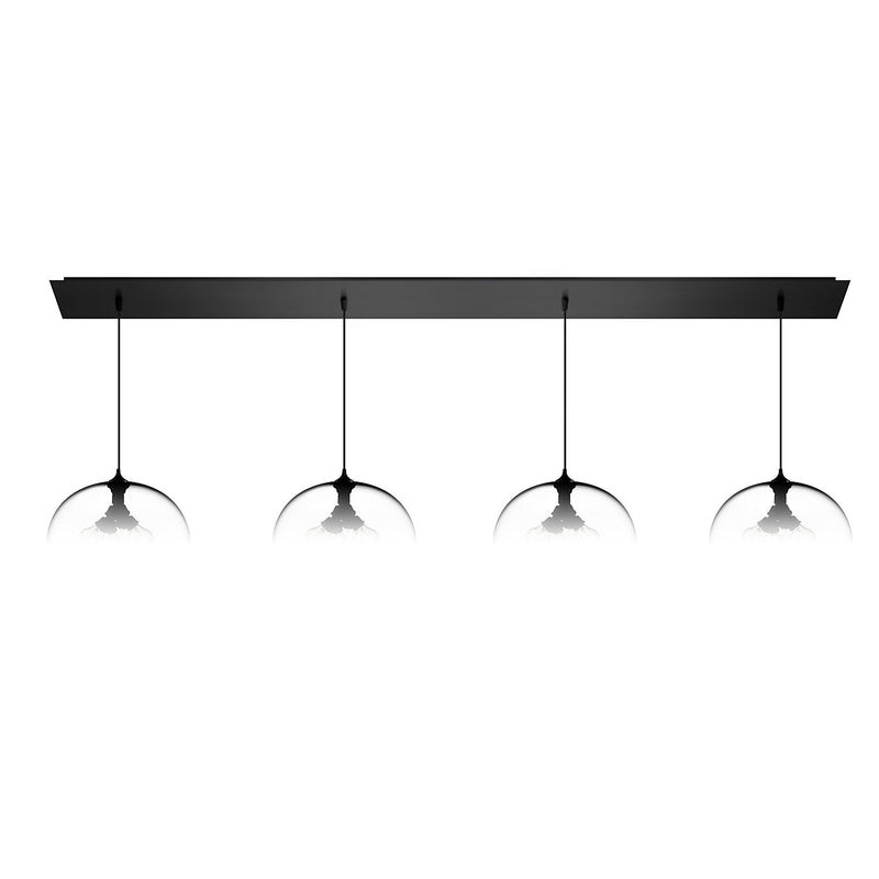Matte Black Linear-4 Large Canopy