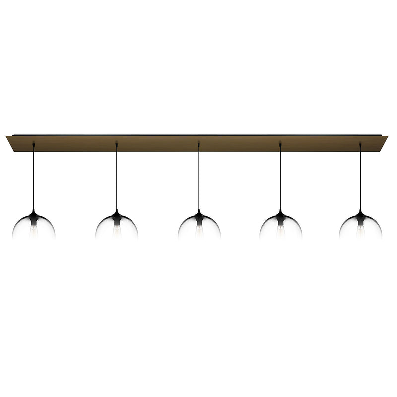 Antiqued Brass Linear-5 Canopy