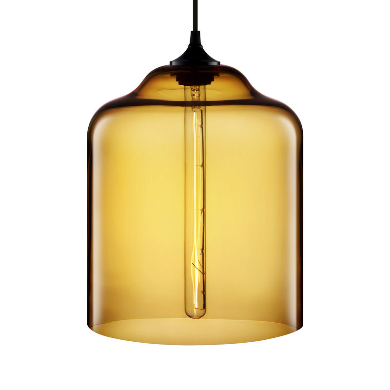 Amber Bell Jar Pendant Light