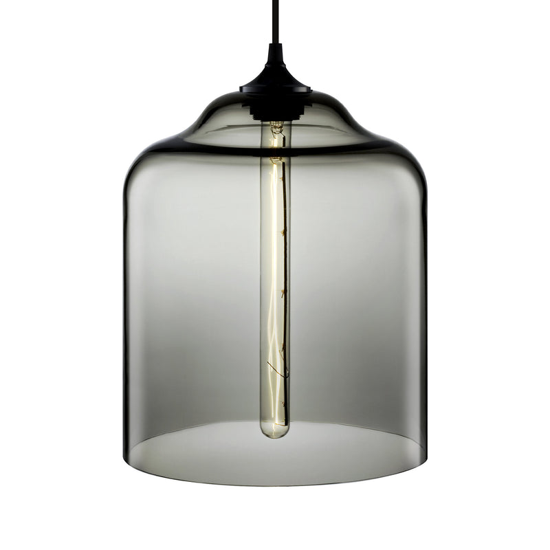 Gray Bell Jar Pendant Light