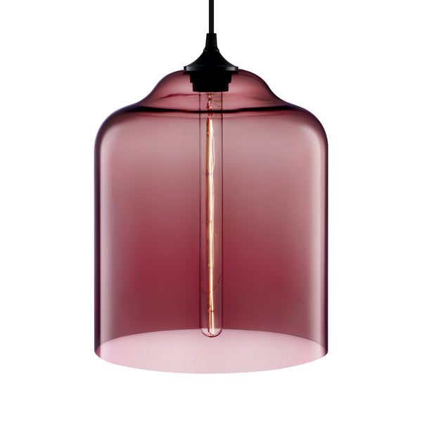 Plum Bell Jar Pendant Light