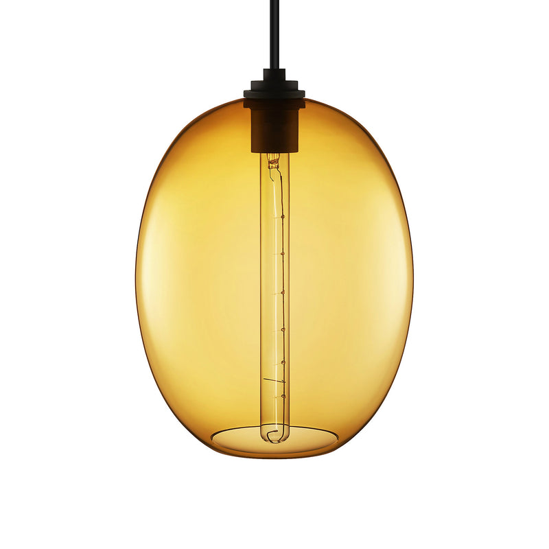 Amber Ellipse Grand Pendant Light