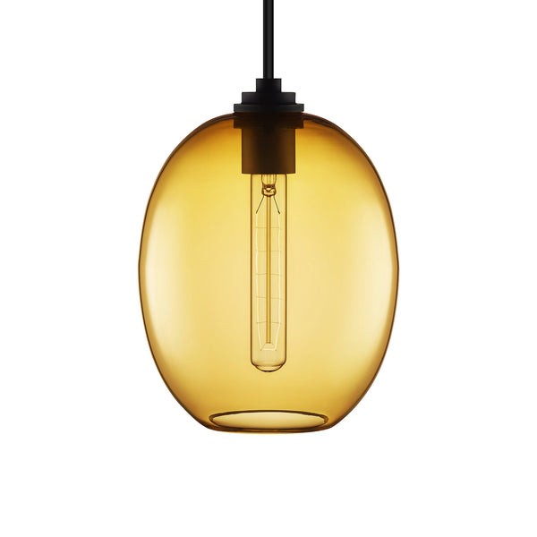 Amber Ellipse Petite Pendant Light