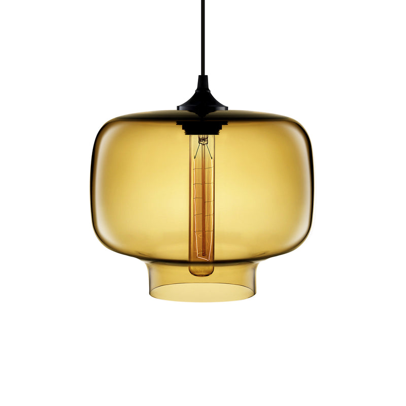 Amber Oculo Pendant Light
