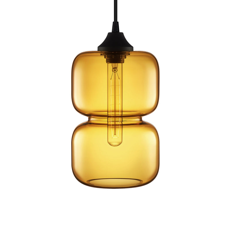 Amber Pinch Pendant Light