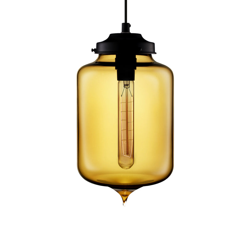 Amber Turret Pendant Light